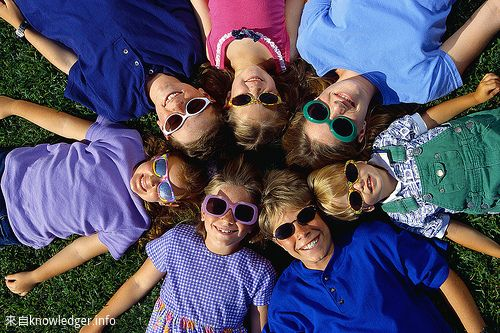 Children Wearing Sunglasses in Circle