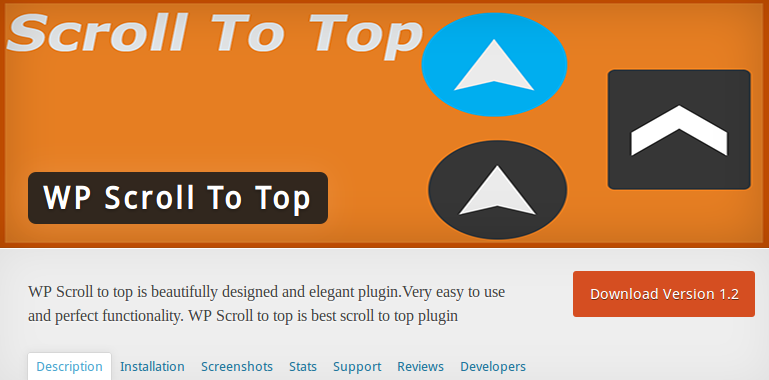 how to add scroll buttopn wordpress